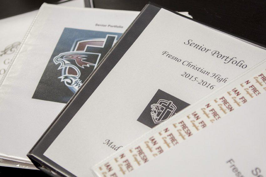 seniors create portfolios to prepare for college
