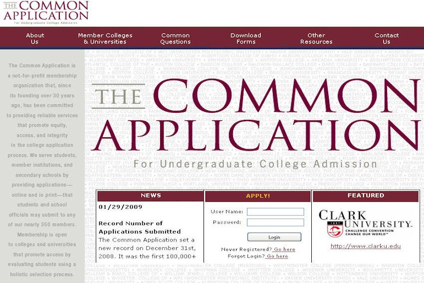 common app provides useful student resume builder