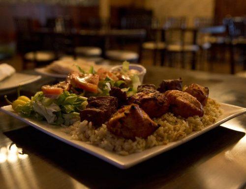 Restaurant incorporates Biblical decorations, Mediterranean flare