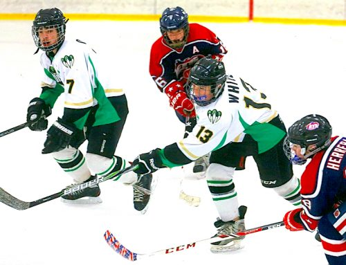 Junior competes with Fresno Junior Monsters hockey team