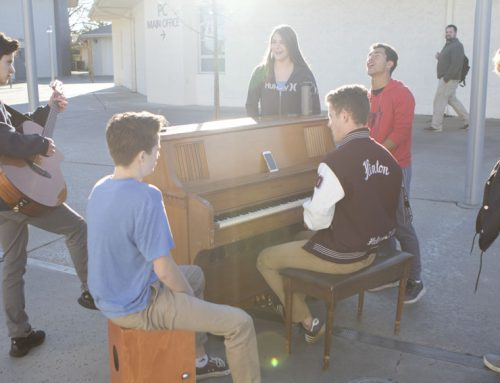 Worship team practices outside