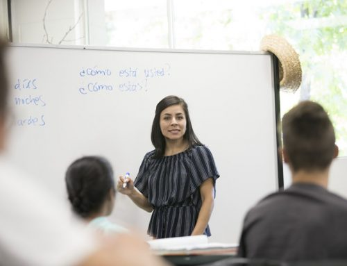 Students learn foreign language, prepare projects