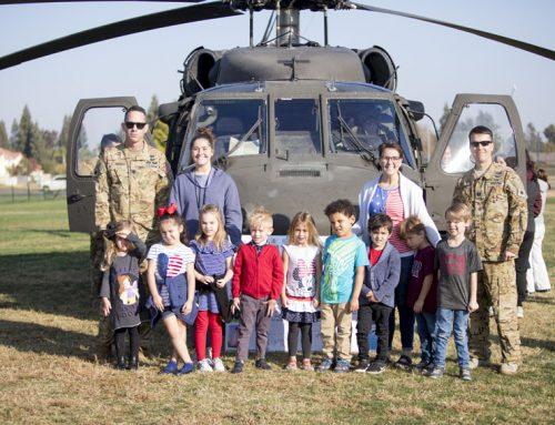 UH-60L Blackhawk lands on campus