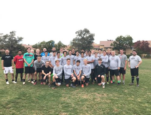 Alumni players participate in annual soccer practice