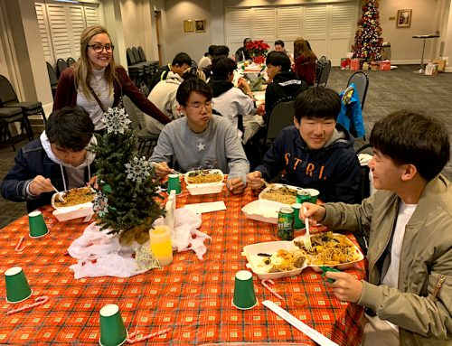 International students celebrate with Christmas party