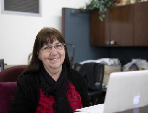 Lin Brown continues service in FC library