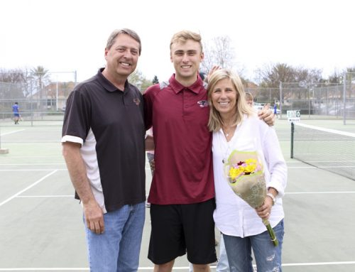 Alexander Rurik leads tennis team, encourages others