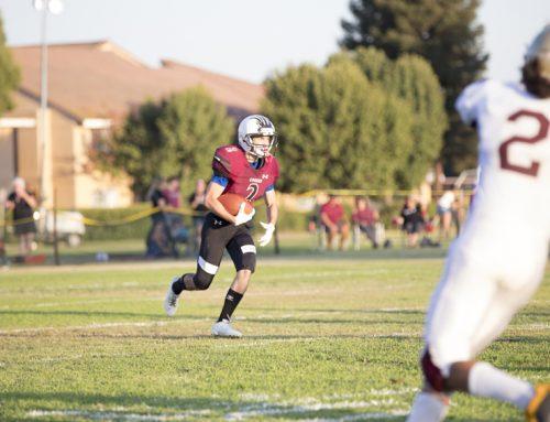 Blake Burdan tackles final football season