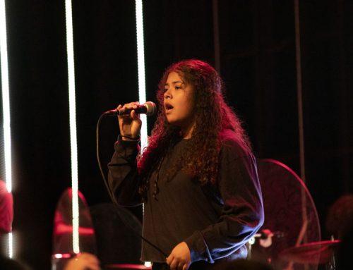 Aimee Castañeda displays passion through singing, performing