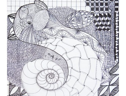 Feature art No. 3, 2019-20 — Zentangle Method